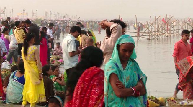 patna chhat puja on ganga river