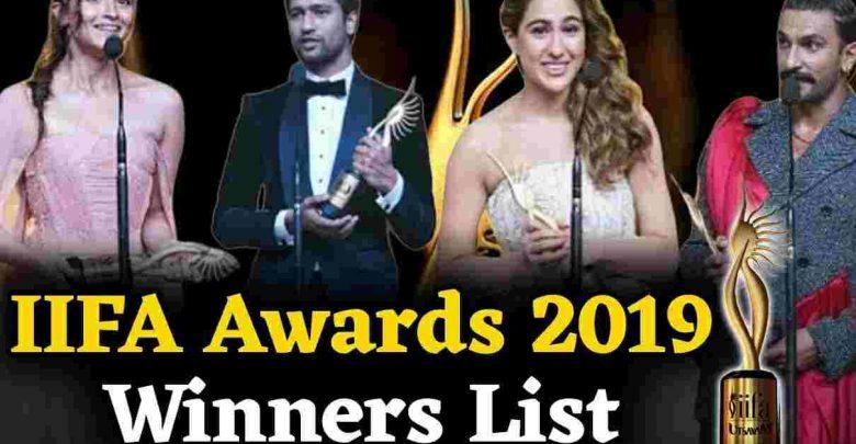 Complete winners list of IIFA Awards Show 2019